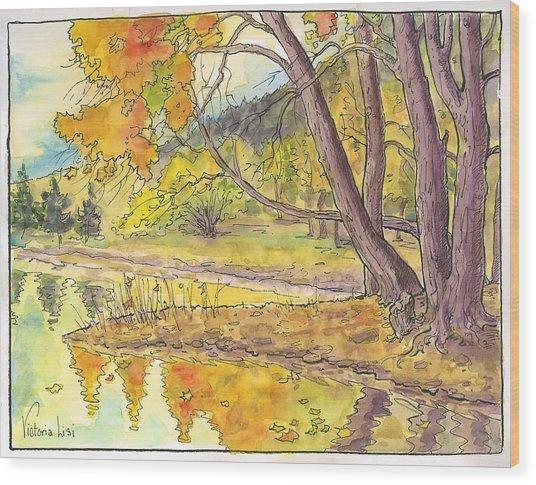 Cottonwood Cove Wood Print