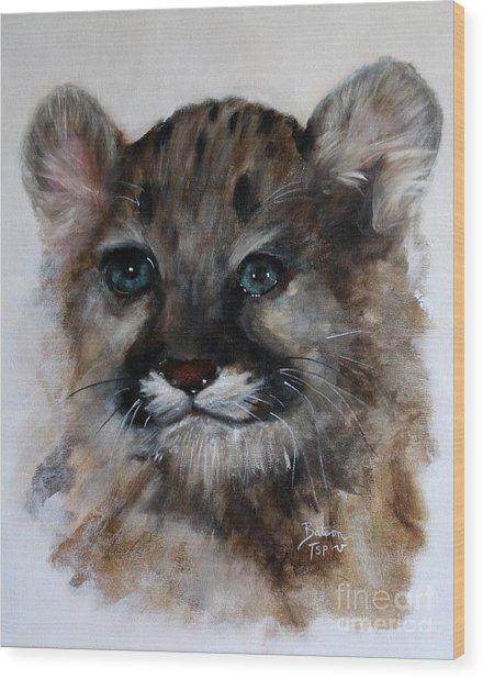 Antares - Cougar Cub Wood Print