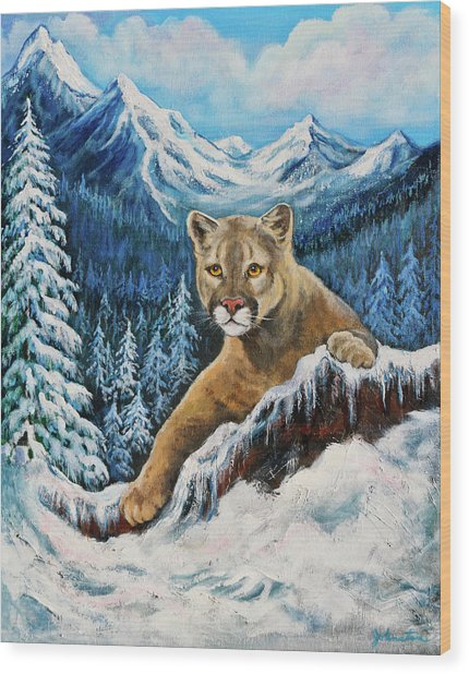 Cougar Sedona Red Rocks  Wood Print