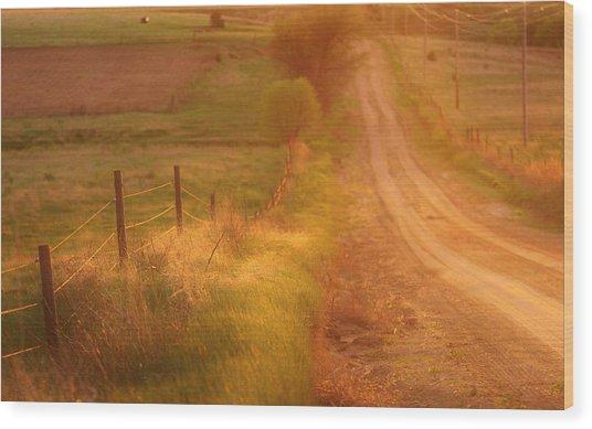 Counrty Sunshine Wood Print