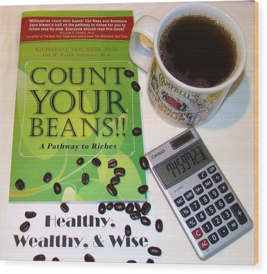 Count Your Beans Wood Print