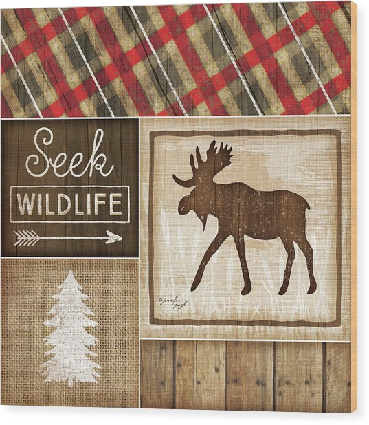 Country Cabin II Wood Print