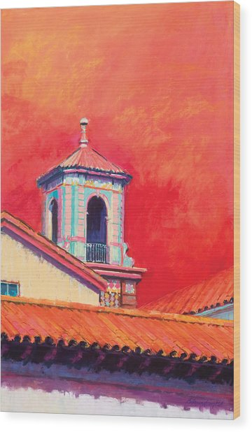 Country Club Plaza Wood Print by Beverly Amundson