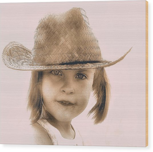 Country Girl Wood Print