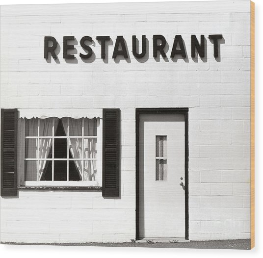 Country Restaurant Wood Print