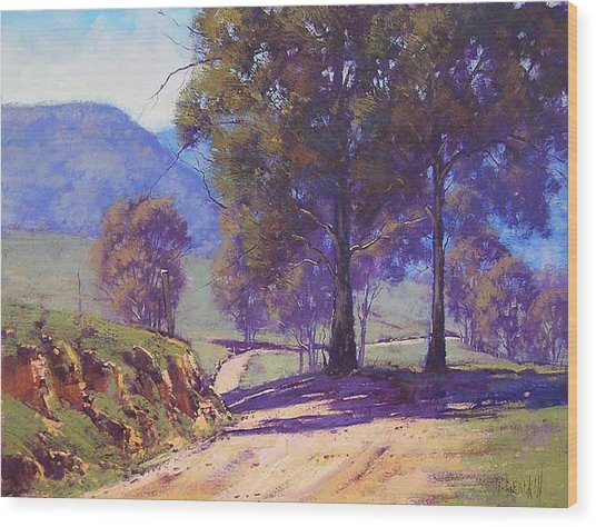 Country Road Oberon Wood Print by Graham Gercken