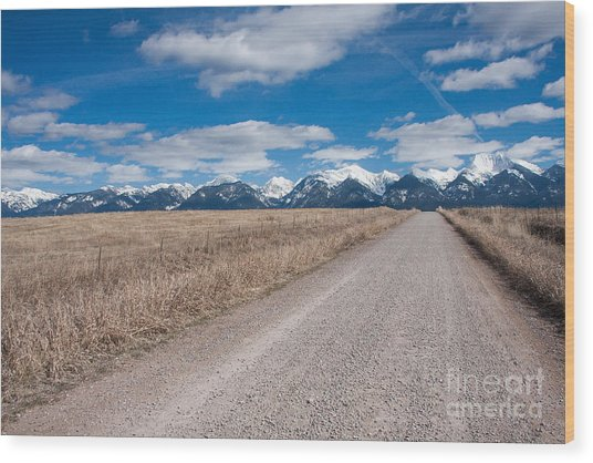 Wood Print featuring the photograph Country Road Take Me Home by Katie LaSalle-Lowery
