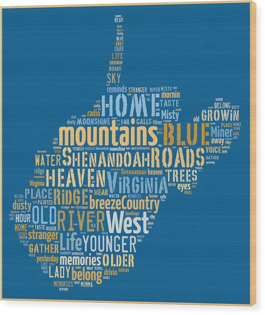 Country Roads 3 Wood Print