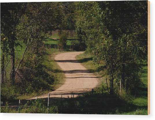 Country S Curve Wood Print