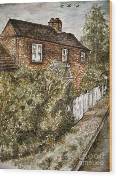 Old English Cottage Wood Print