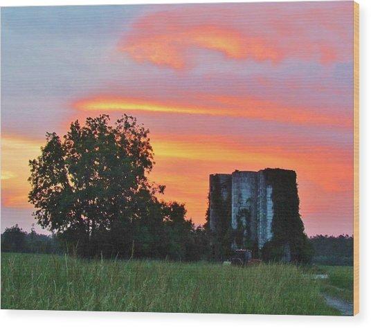 Country Sky Wood Print