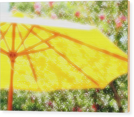 Country Umbrella Wood Print