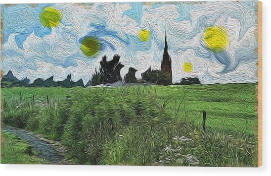 Countryside Impressioniism Wood Print
