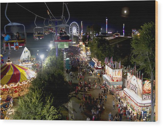 County Fair Fun 2 Wood Print