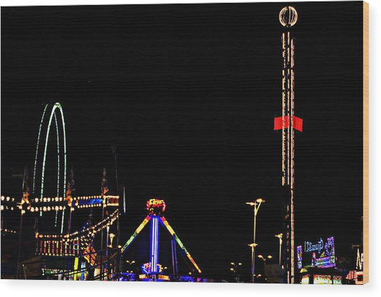 County Fair Wood Print