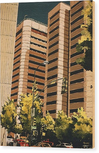 County Jail Wood Print by Paul Guyer