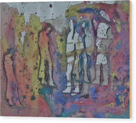 Couples Wood Print by Mark Greenhalgh