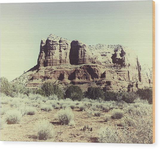Wood Print featuring the photograph Courthouse Butte I by Gigi Ebert