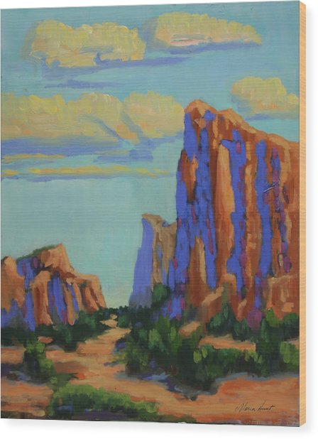 Courthouse Rock In Sedona Wood Print