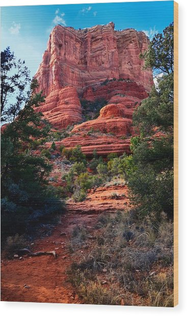 Courthouse Rock Wood Print
