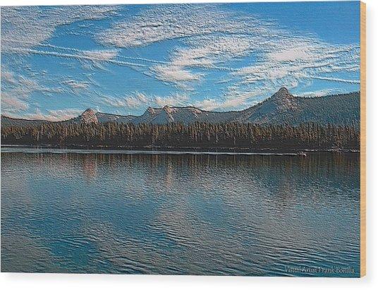 Wood Print featuring the digital art Courtright Reservoir Version II by Visual Artist Frank Bonilla