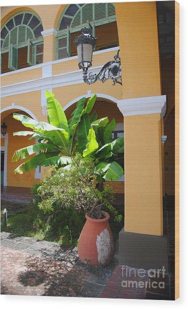 Courtyard Old San Juan Wood Print