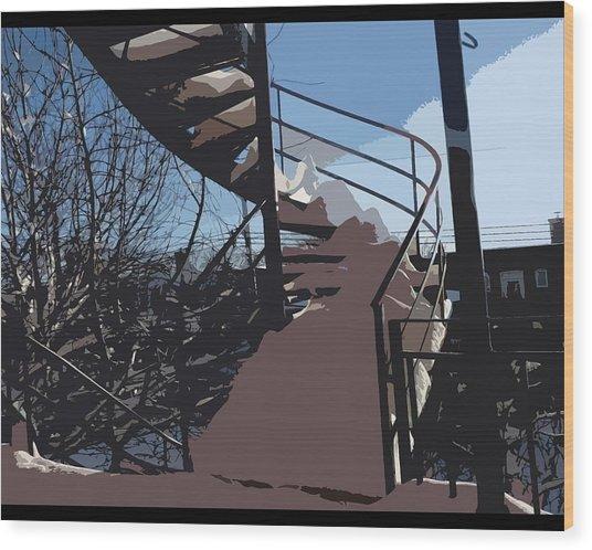 Couverture D'hiver Wood Print