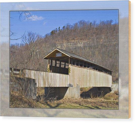 Covered Bridge In Pa. Wood Print