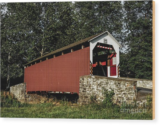 Covered Bridge Wood Print by Timothy Clinch