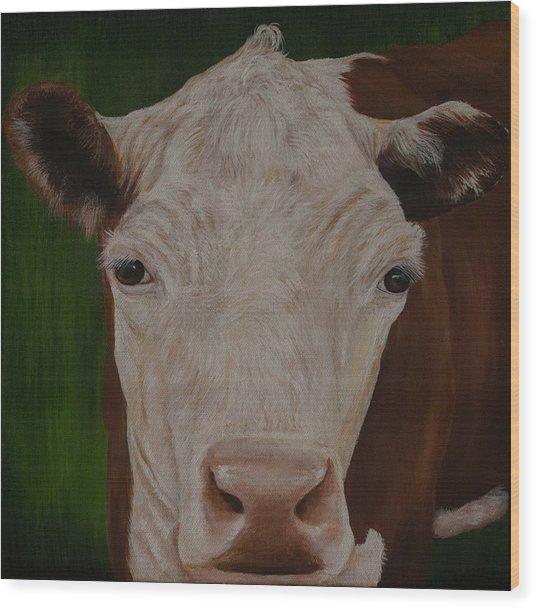 Cow Lick Wood Print