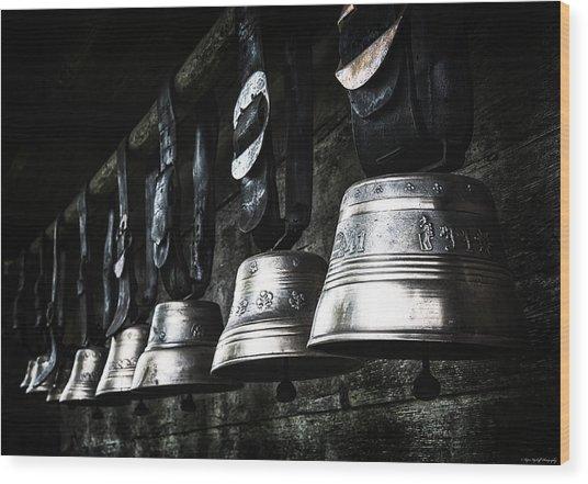 Cowbells Wood Print