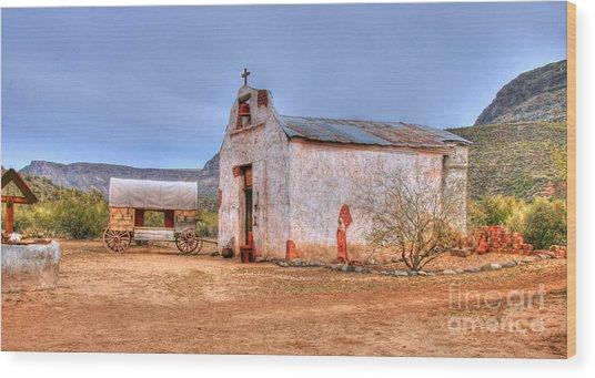 Cowboy Church Wood Print