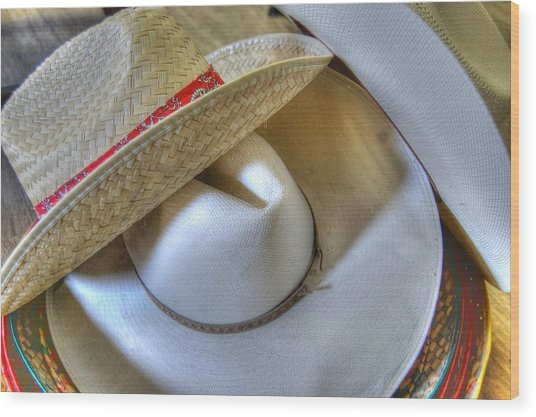 Cowboy Hats Wood Print