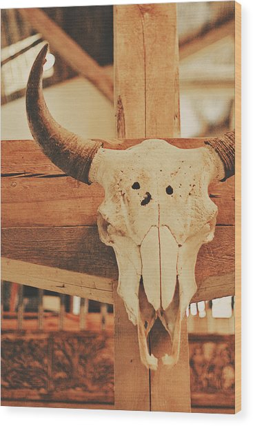 Cowboy Lounge Wood Print