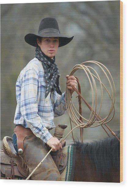 Cowboy Signature 13 Wood Print