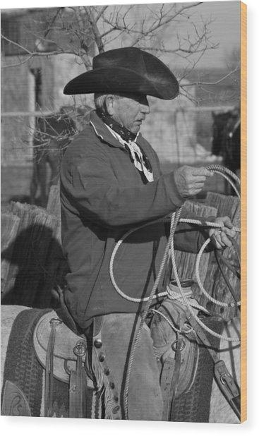 Cowboy Signature 14 Wood Print