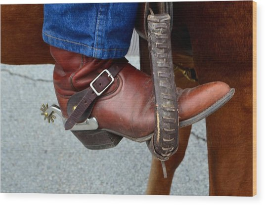 Cowboy Swagg Wood Print by Kelly Kitchens