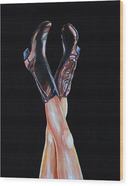 Cowgirl Legs Wood Print
