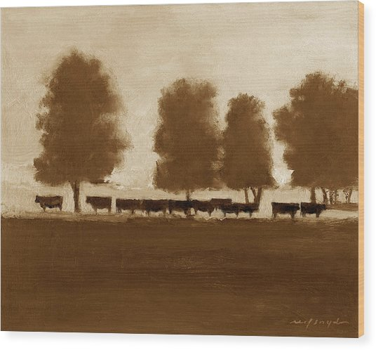 Cowherd Wood Print