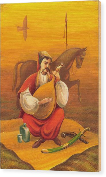 Cossack Mamay Wood Print