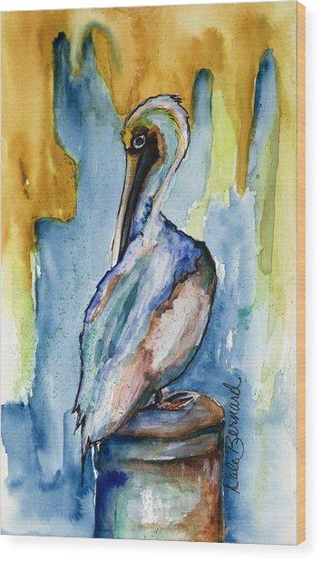 Cozumel Pelican  Wood Print