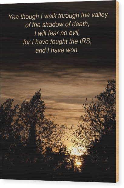 Cpa Quote Wood Print