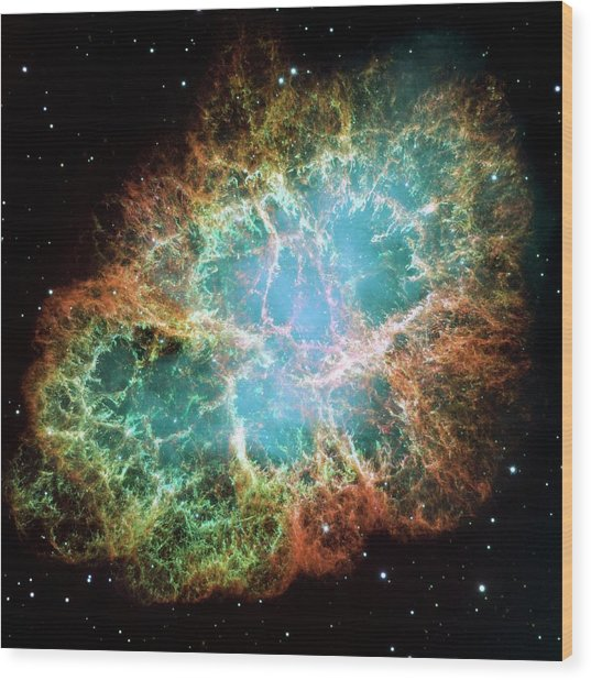 Crab Nebula (m1) Wood Print