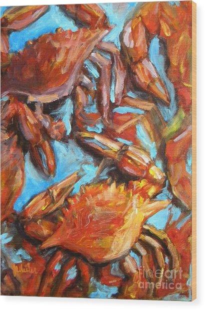 Crab Pile Wood Print