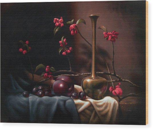 Crabapple Blossoms Wood Print by Timothy Jones