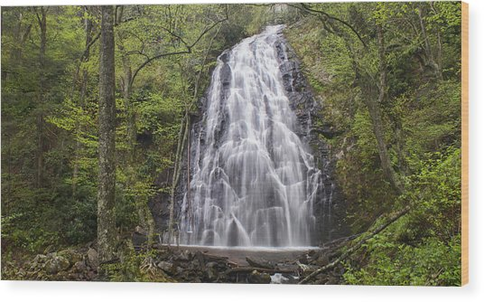 Crabtree Falls Panorama Wood Print