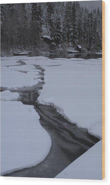Cracked Ice  Wood Print
