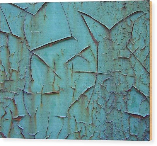 Crackled Rust Wood Print