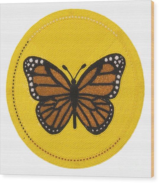 Cradleboard Beadwork Spring Butterfly Wood Print