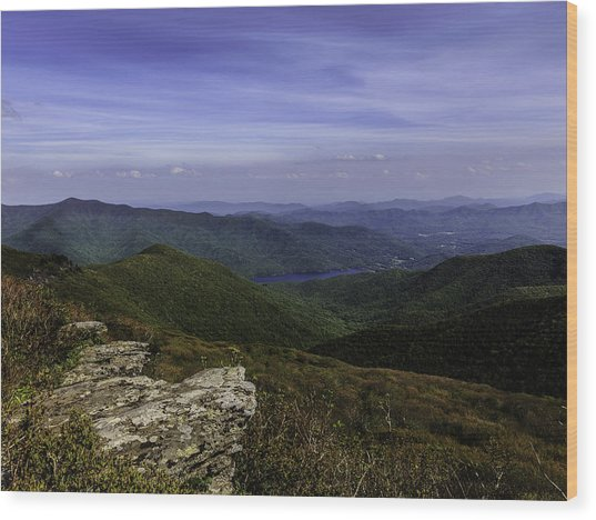 Craggy Mountains Wood Print